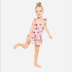 Other - Ruffled floral toddler one piece 👙